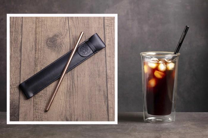 咖啡迷瘋搶中!香港 Starbucks 棄用膠飲管,新推金屬飲管、皮革套裝超有質感