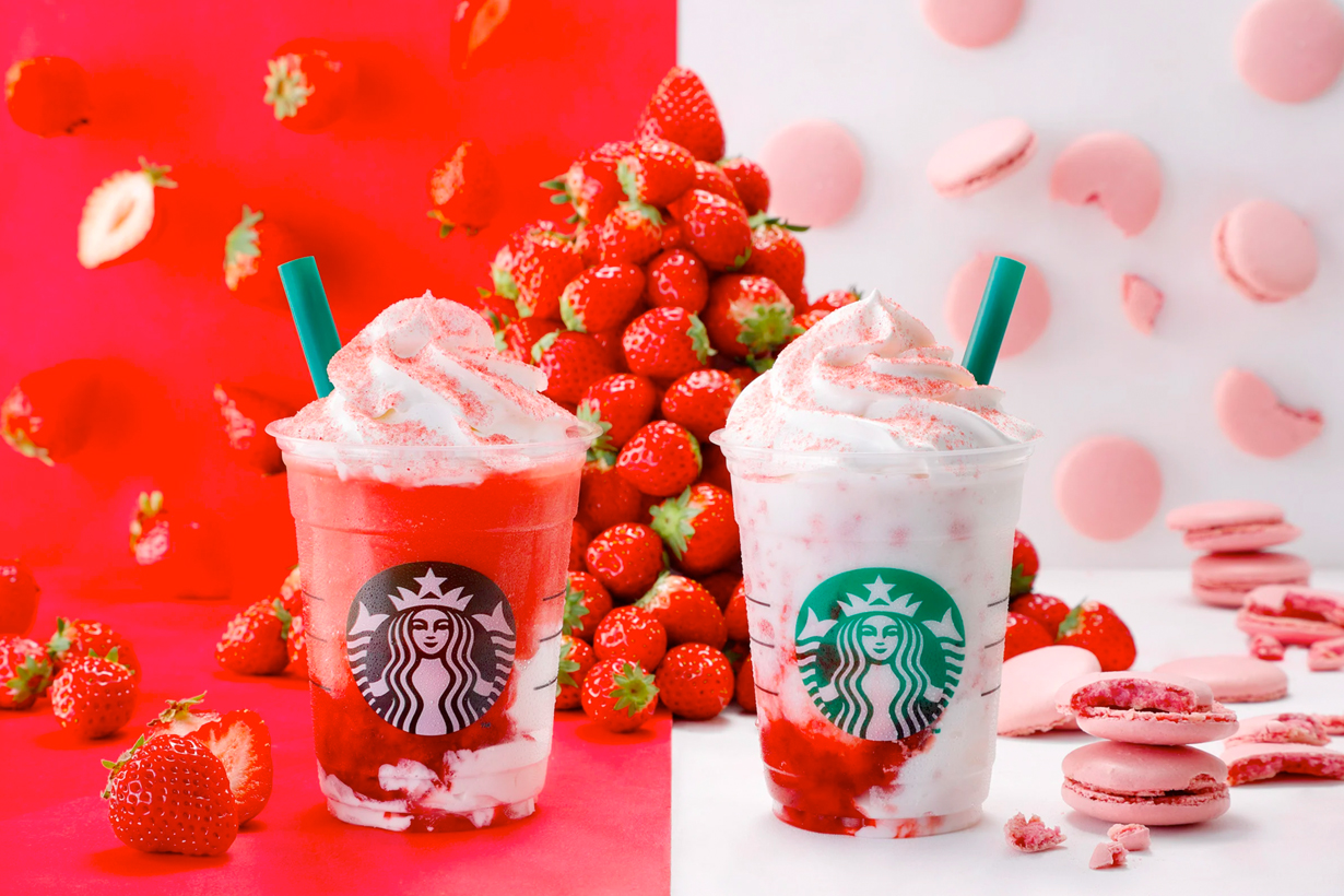 japan starbucks strawberry FRAPPUCCINO limited macaroon
