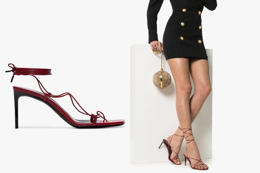 saint laurent strappy sandals