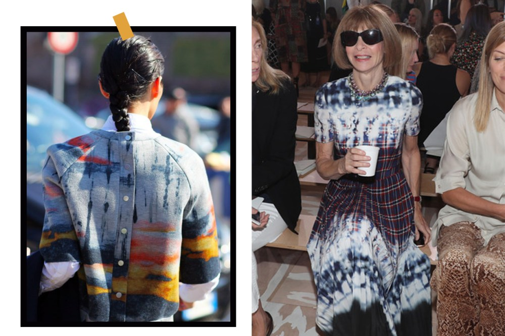 Tie Dye Trend 2019 Anna Wintour Street Style