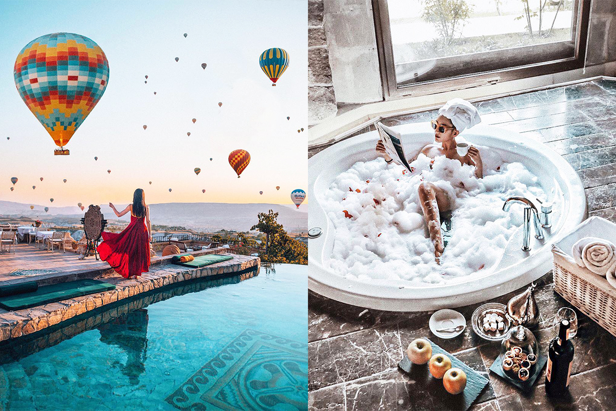 Turkey Cappadocia Museum Hotel Cave hotel hot balloons infinity pool travel tips