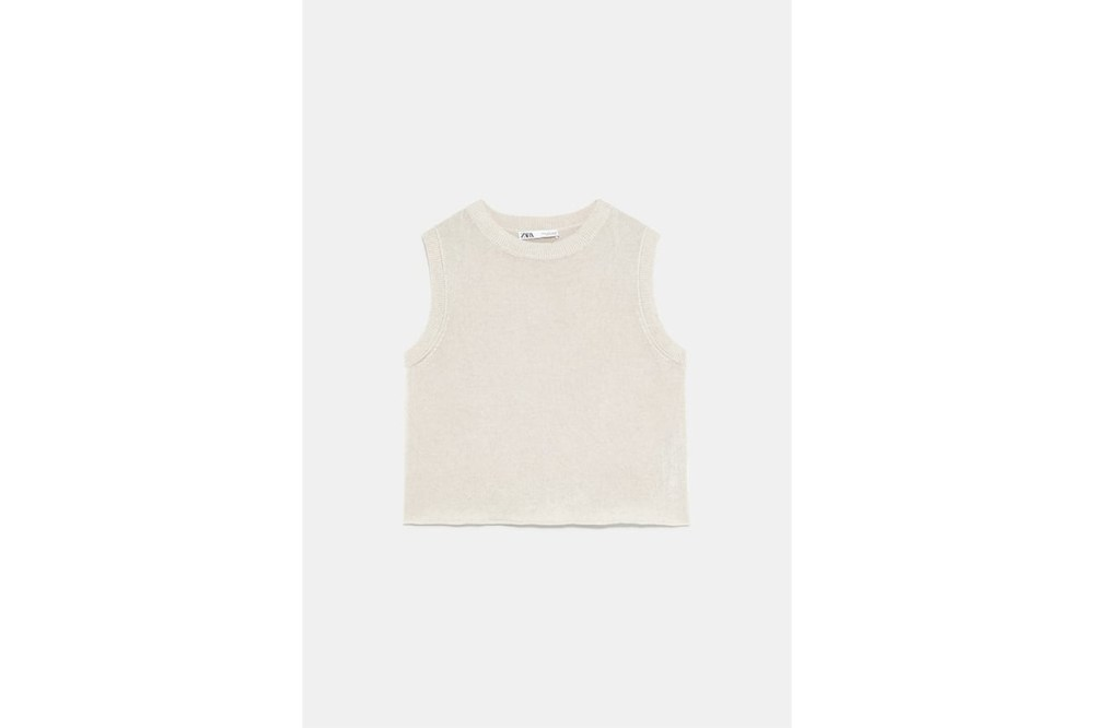 Zara 2019 Minimalist Collection Ribbed Knit Top