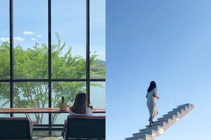 #POPSPOTS in Korea:一座走向天空的階梯,一間座落湖畔旁的獨棟落地窗咖啡廳