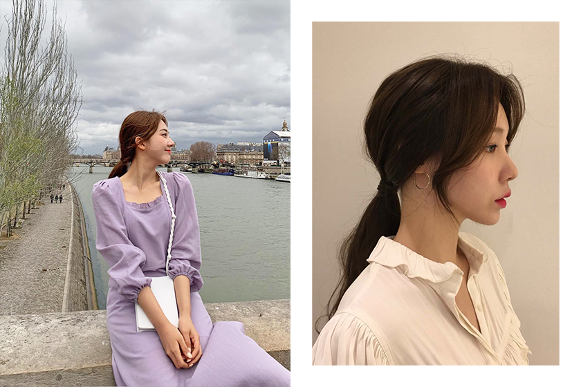 Korean Girl Low Ponytails Hairstyles Idea Tips