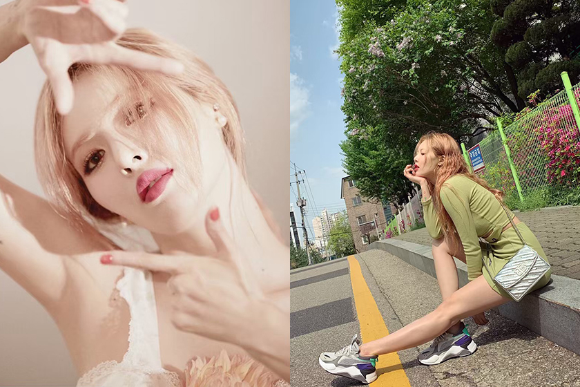 Hyuna Kim Change Hair Color bang Hairstyle