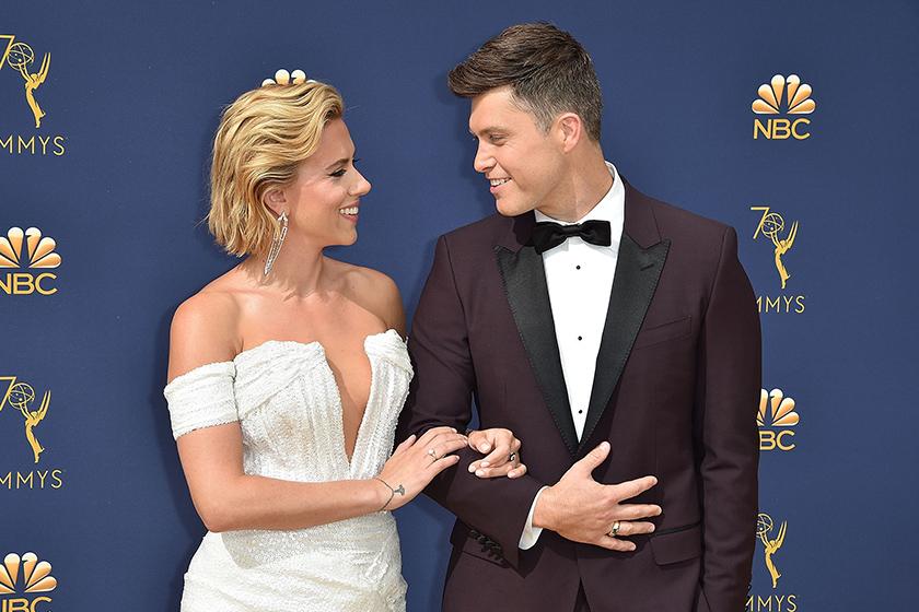 Scarlett Johansson Engaged Colin Jost Celebrities Couple