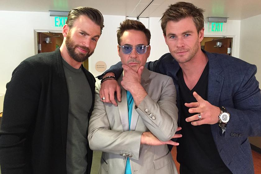 Avengers EndGame Chris Evans Chris Hemsworth brotherhood