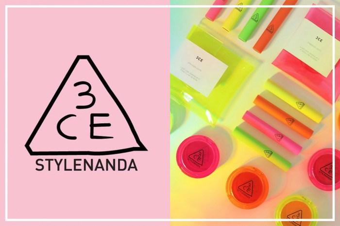 擋不住的光彩魅力!3CE 最新限量版化妝品以螢光色包裝引起熱話