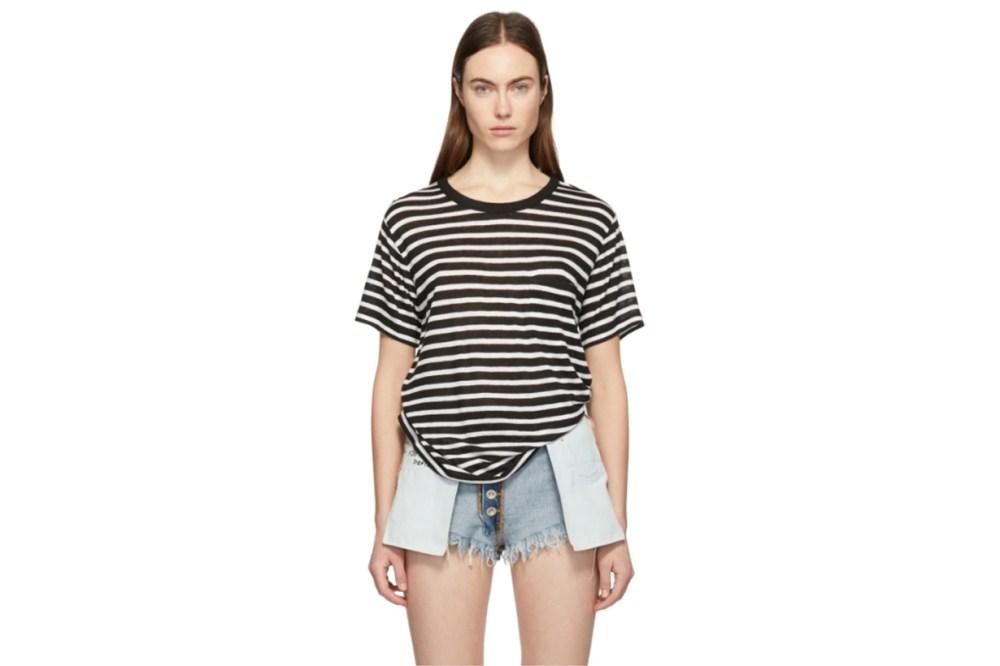 alexanderwang.t Black & White Slub Jersey Pocket T-Shirt