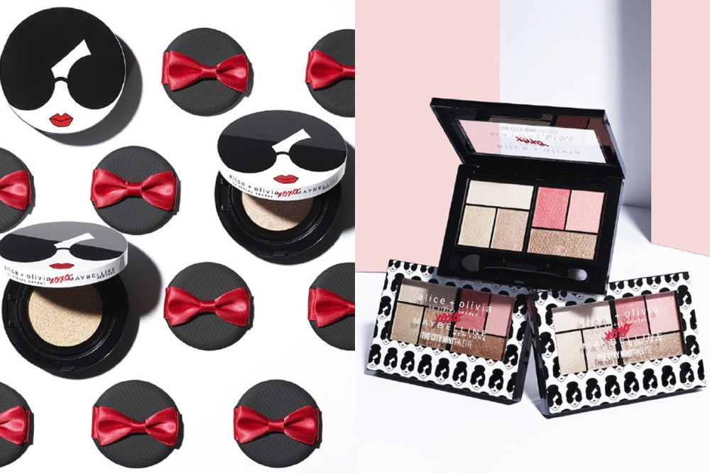 Alice + Olivia Maybelline New York Crossover cosmetic makeup collection lipstick cushion foundation mascara eyeshadow palette