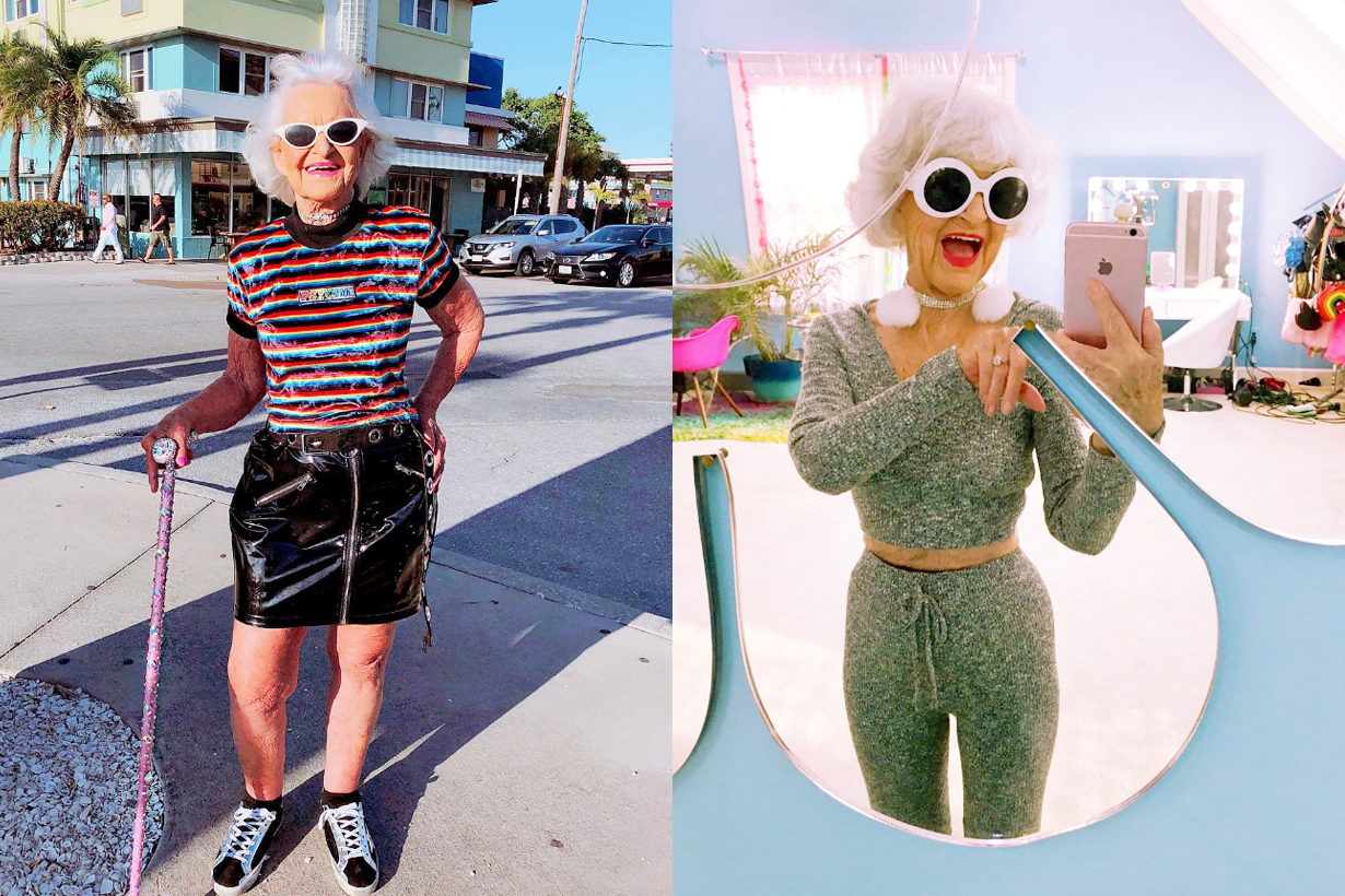 Baddie Winkle 90 years old Instagram influencer Inc.redicle Cosmetics crossover collection Sephora boob mask lip gloss highlighter makeup