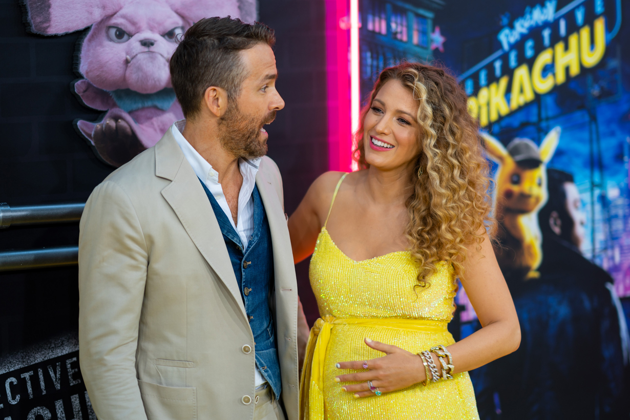 blake lively ryan reynolds third child pregnant pokemon