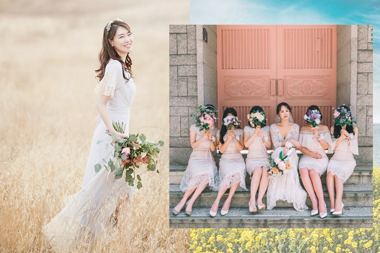 Bridesmaids hairstyles DIY wedding styling tips wedding bridal style hair styling korean girls hairstyles trend