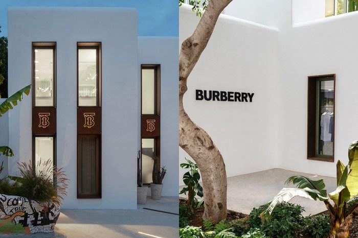 Burberry 在希臘小島開了一間店,獨棟的白色建築宛如童話故事場景!