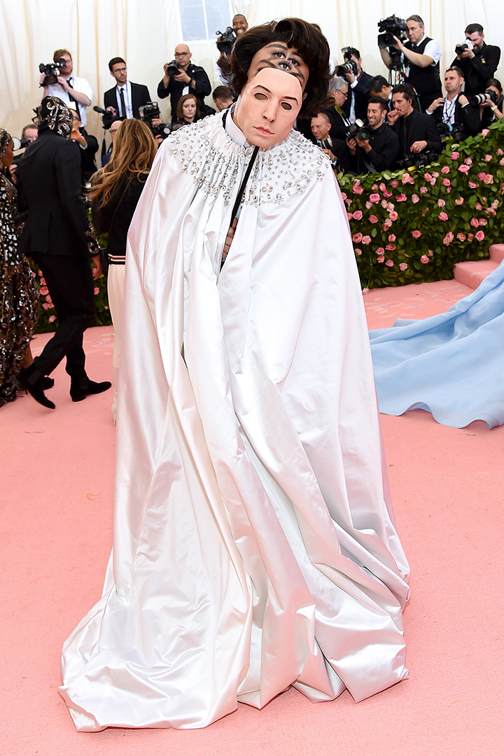Ezra Miller Beauty Moment on the Met Gala Red Carpet 2019