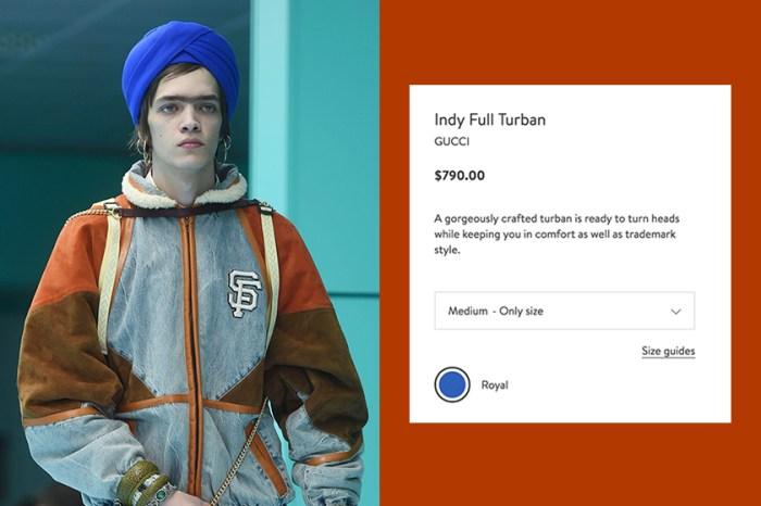 又被罵翻:Gucci 因為這頂售價 $790 美元的藍色頭巾,再次引來憤怒抵制!