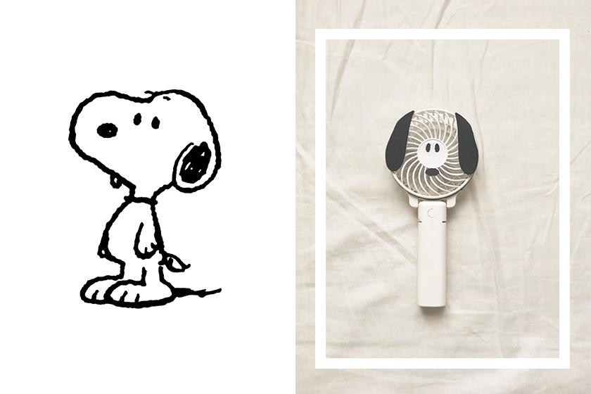 Snoopy electric fan PLAZA