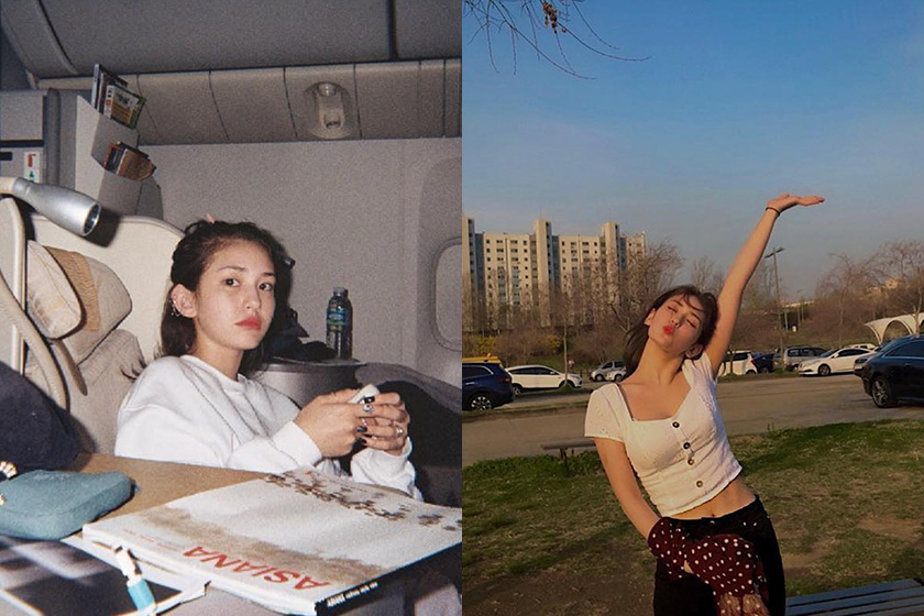 Korean celebrities Somi daily fitness