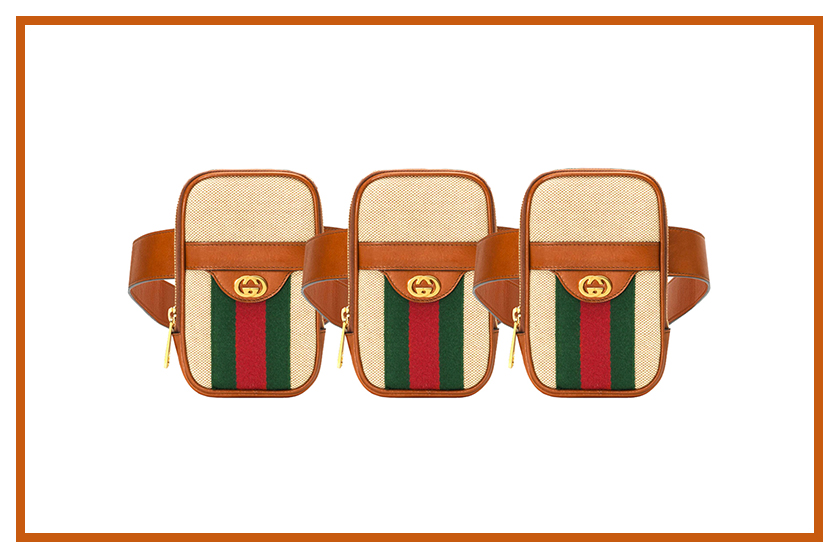 gucci vintage canvas belted iphone case release