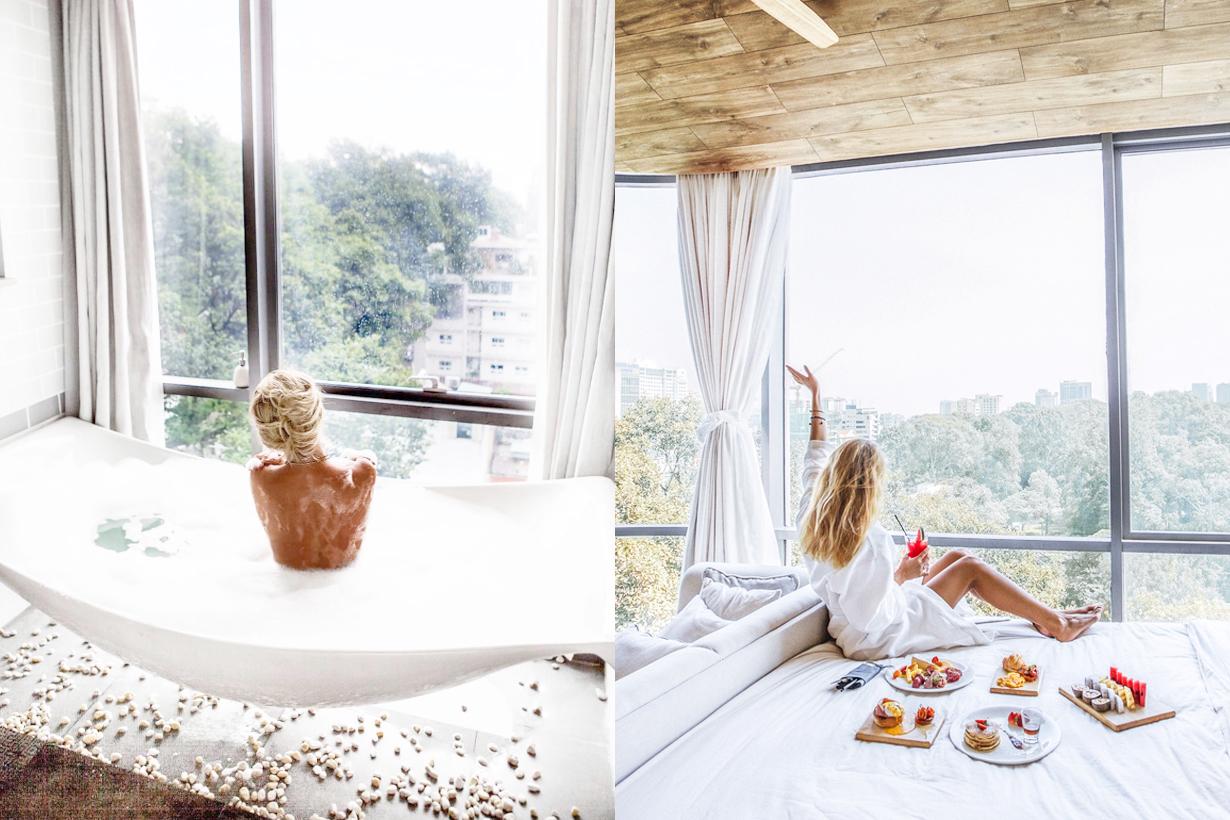 Fusion Suites Saigon Vietnam Saigon Hotel Instagrammable Travel tips hotel recommendation views spa bath tub instagram hit