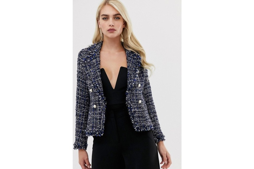 Girl In Mind Tweed Blazer
