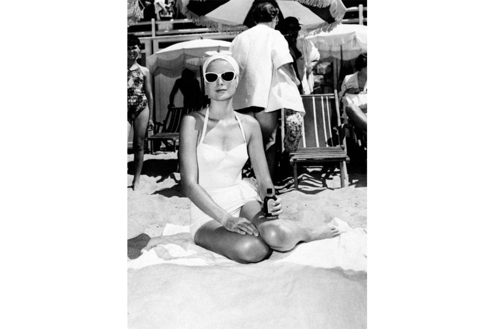 Grace Kelly White Swimsuit