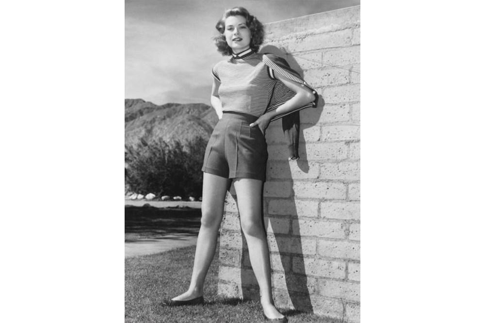 Grace Kelly Striped Tee Shorts Ballet Flats