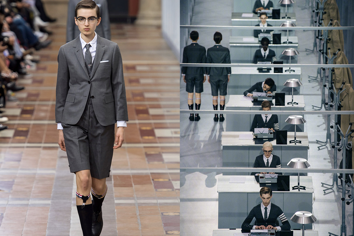 thom browne Respond accusations about the copied London artist