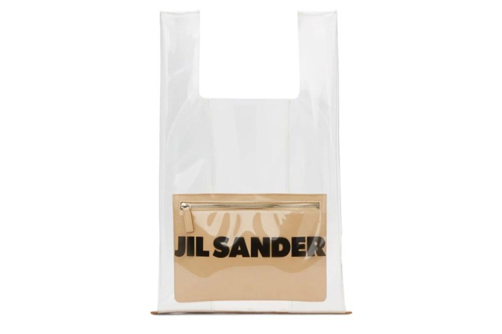 Jil Sander Transparent & Beige Market Tote