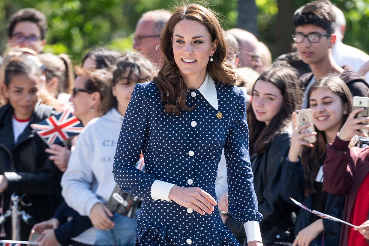 Kate Middleton just re-wore her polka-dot Alessandra Rich dress