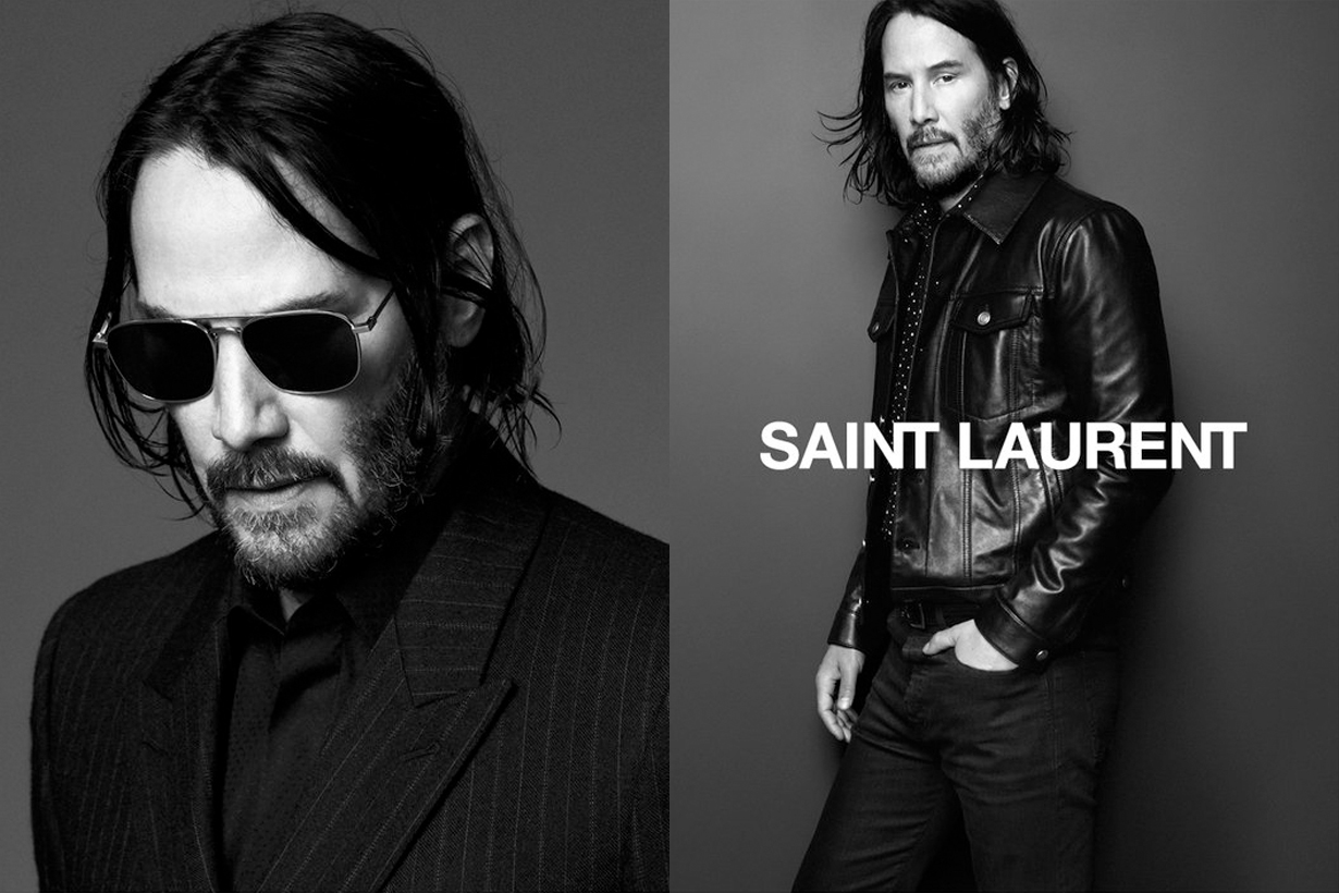 keanu reeves saint laurent new face campaign 2019 fall