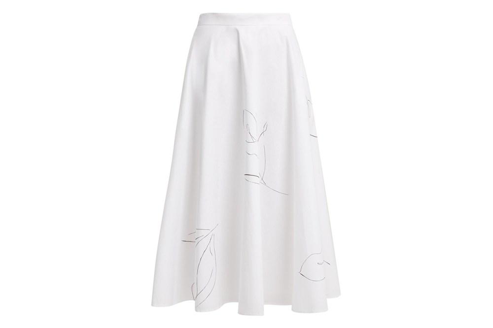 Kew A-Line Cotton-Poplin Skirt