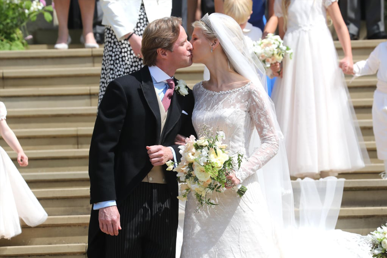 Lady Gabriella Windsor's Wedding Dress Is Actually Blush Pink