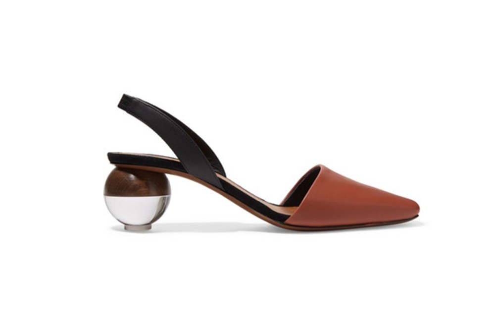 Lancastrela Leather Slingback Pumps