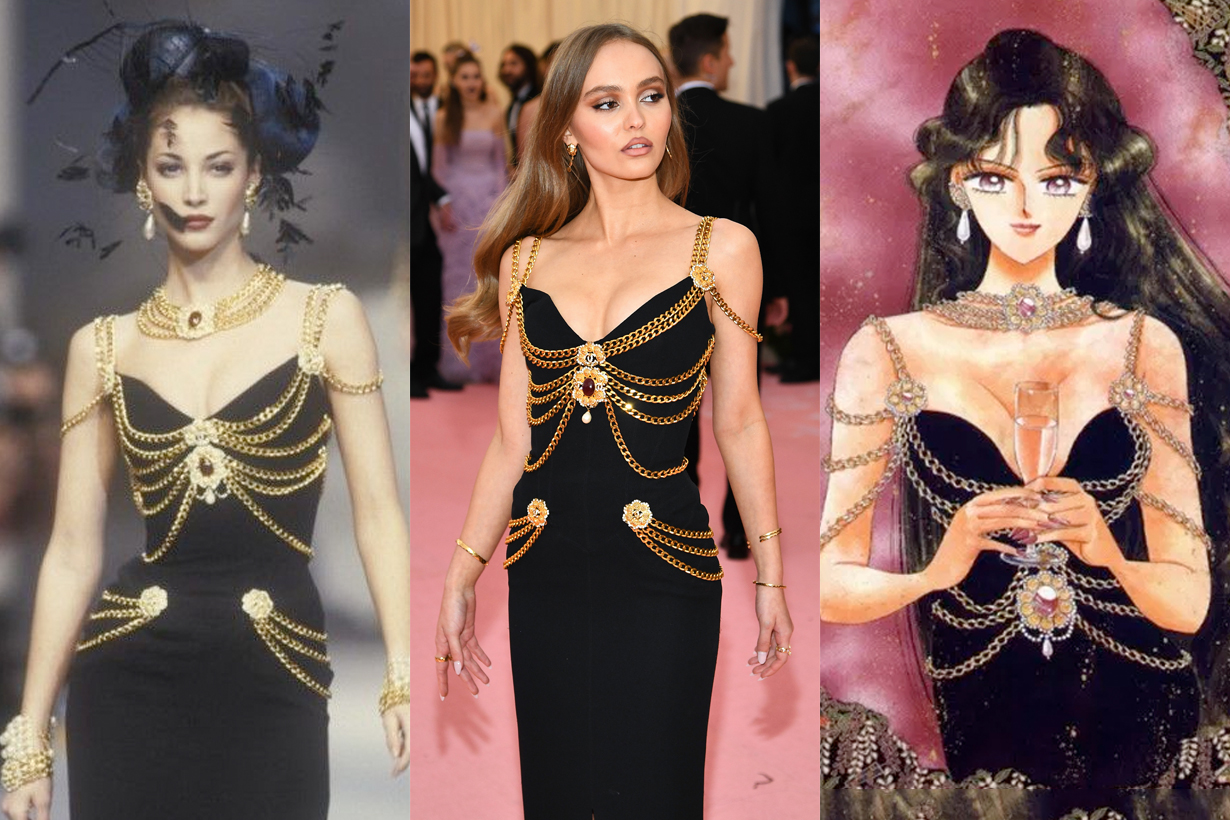 lily rose depp met gala hanel haute couture sailor moon 2019