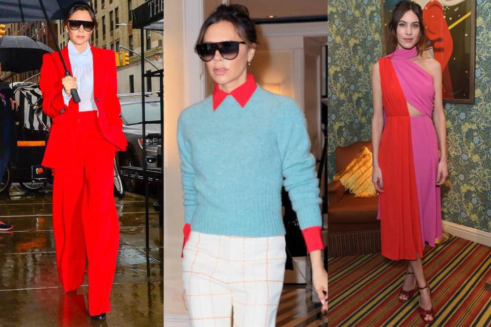 Victoria Beckahm Alexa Chung Two Tone Outfits