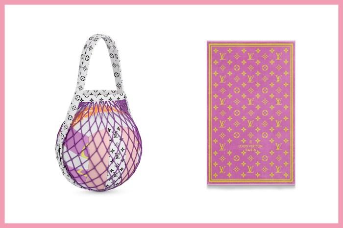 Louis Vuitton 推出了排球、粉色浴巾,完全是充滿少女心的沙灘配件!