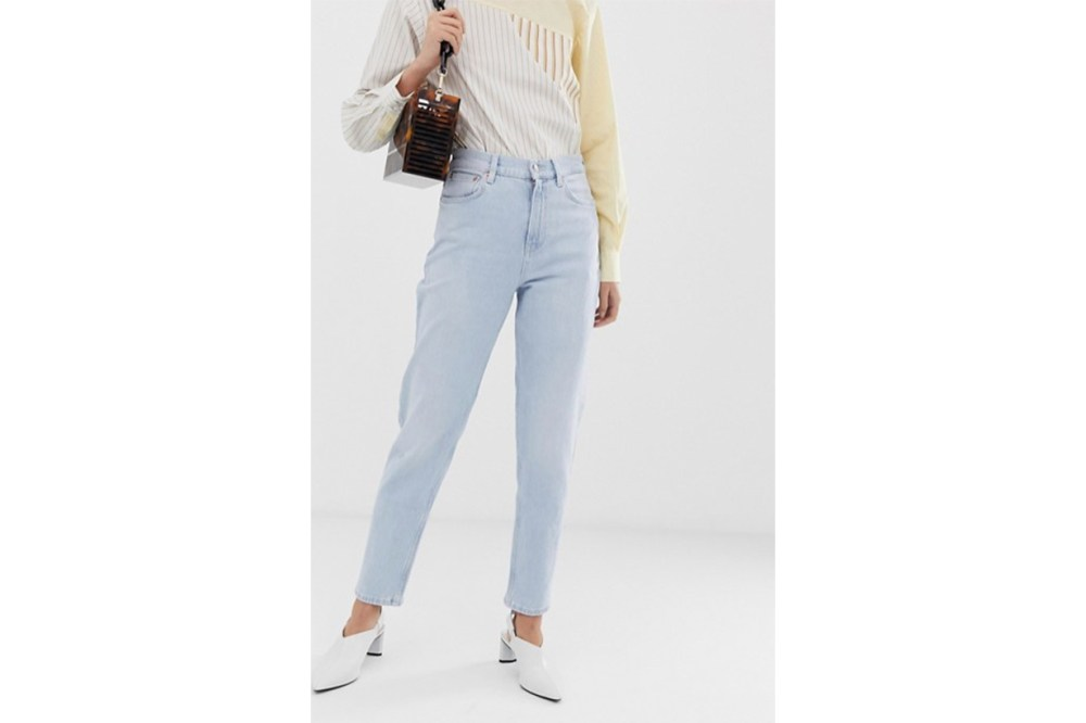 Mango Mom Jeans in Light Blue