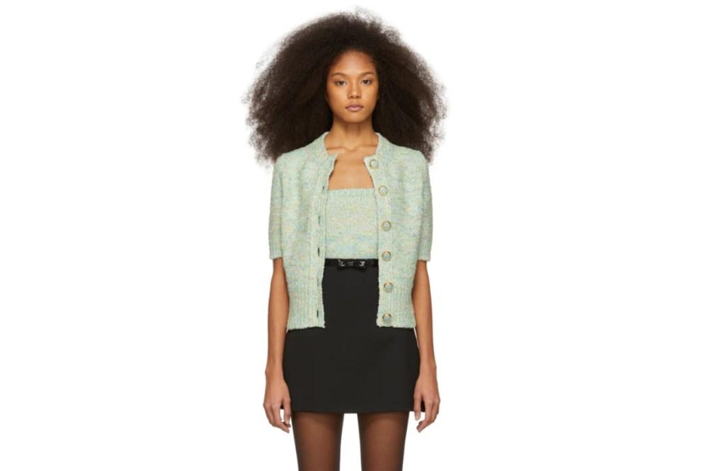 Marc Jacobs Green Short Sleeve Cardigan