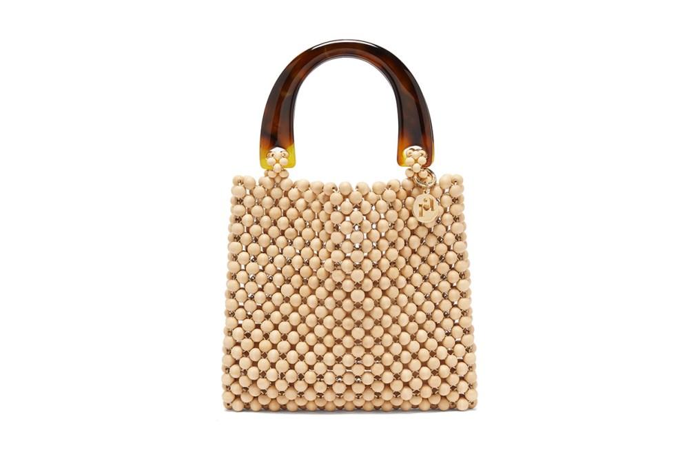 Marv Wooden-Beaded Bag