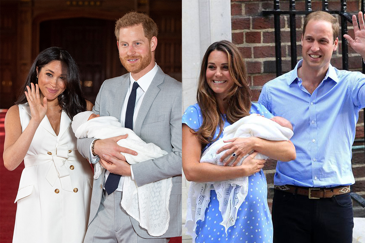 Meghan Markle's Body Language in Her First Pic With Archie Compared With Kate Middleton's With Prince George