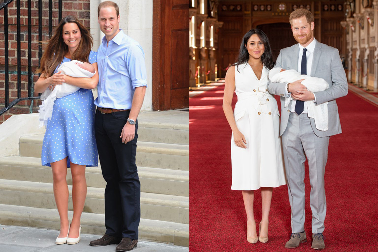 Meghan Markle & Kate Middleton's Baby Debut Outfits Were So Different — Here's Why