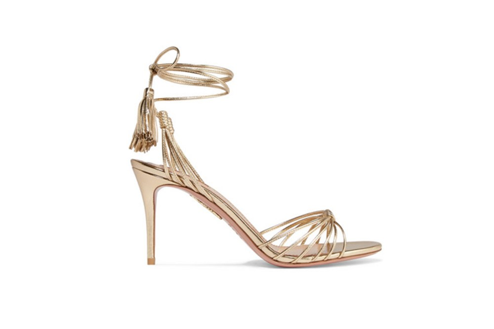 Mescal 85 Metallic Leather Sandals
