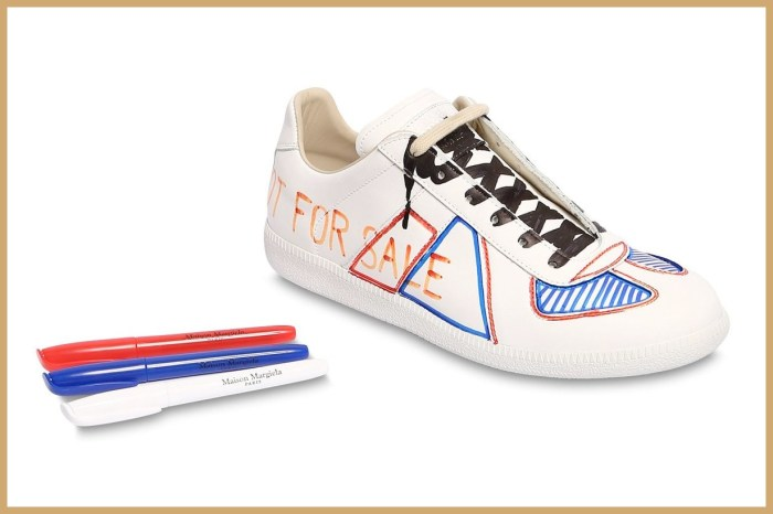 鞋盒裡附上三支馬克筆,Maison Margiela 要你自己創作一雙白波鞋!