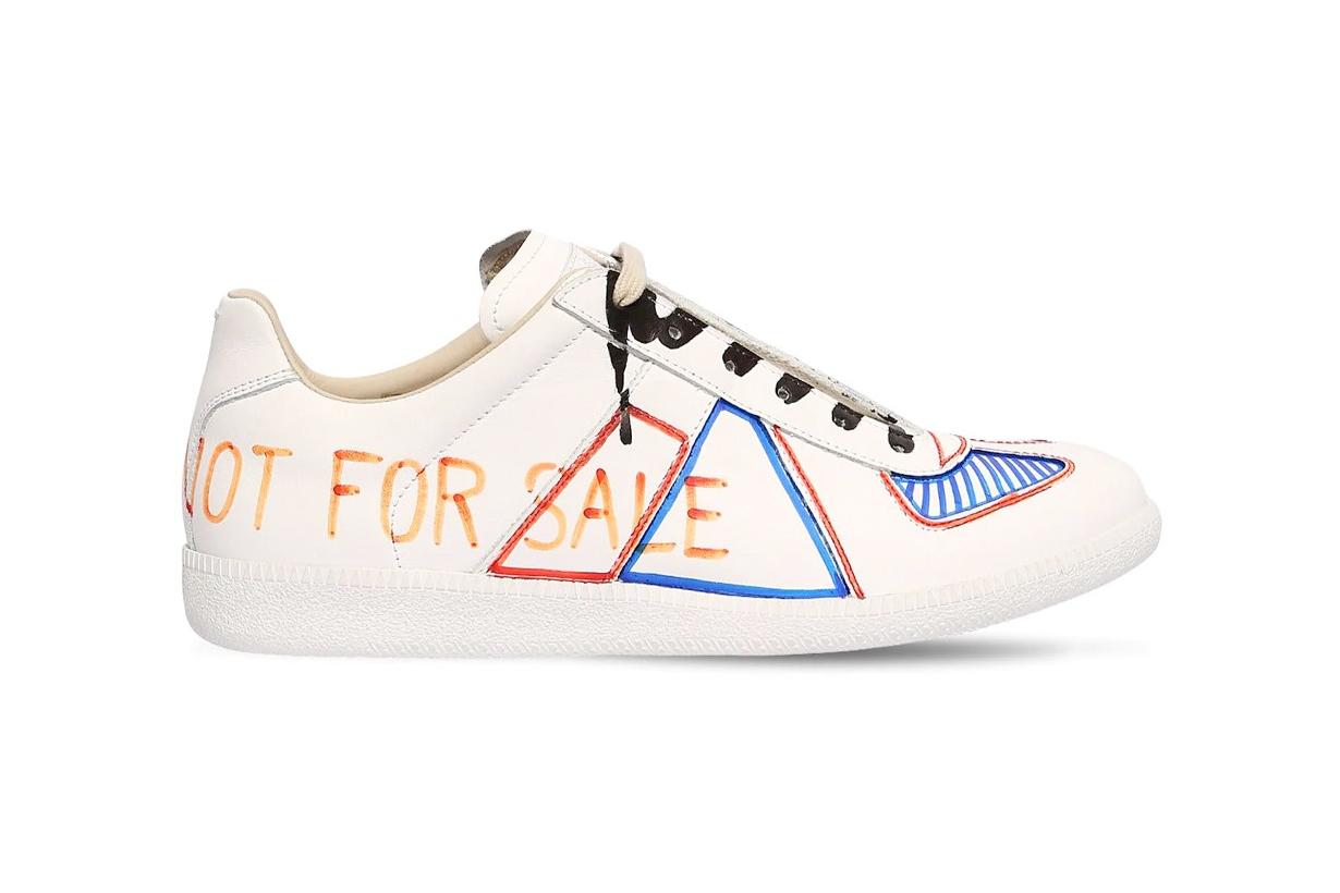 maison margiela replica sneakers white markers diy