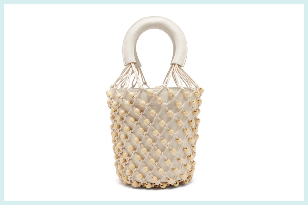 Moreau Macramé and Leather Bucket Bag