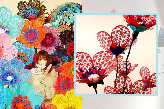 讓人想起沖繩的花海: 一捨日本「含蓄美」的藝術家國吉満,紙花最初只為送給女兒?