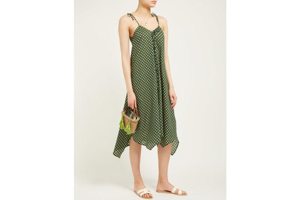 Payton Polka-Dot Cotton-Seersucker Dress