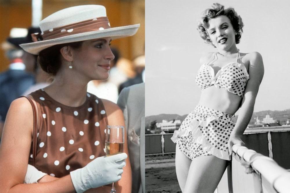 Julia Roberts in Pretty Woman and Marilyn Monroe