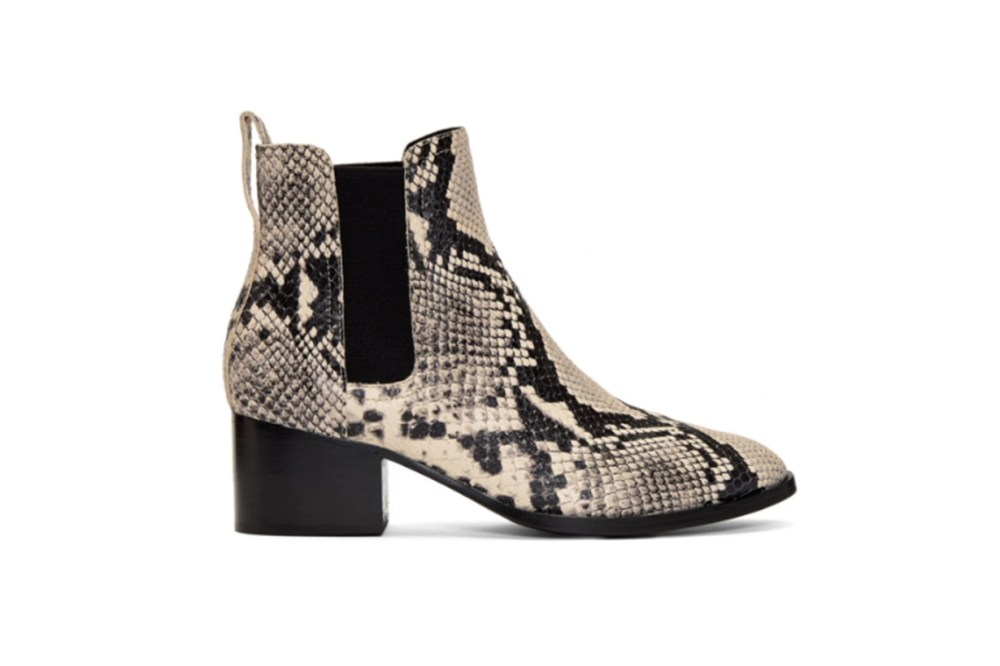 rag & bone Black & White Snake Walker Boots